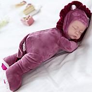 Plush Doll Spädbarn 14 tum Silikon Vinyl - Sång Barnsäkert Ogiftig Sova Spela Lullaby Med 3 val av låtar Unge Flickor Leksaker Present / Floppy Head / Naturlig hudton