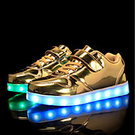 رخيصةأون -للصبيان / للفتيات LED / مريح / أحذية مضيئة PU أحذية رياضية الأطفال الصغار (4-7 سنوات) / الأطفال الصغار (7 سنوات +) المشي دانتيل / ربطة و حلقة / LED أبيض / أسود / زهري الربيع / الخريف