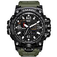 levne -SMAEL Pánské Sportovní hodinky Vojenské hodinky Náramkové hodinky Japonské Quartz Přívěšky Voděodolné LED Analog - Digitál Černá a zlatá Černá / Modrá Černá / Stříbrná / Dva roky / Z umělé kůže