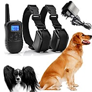 Dogs Bark Collar Dog Training Collars Waterproof Rechargeable Vibrating Micro Electric Shock No Harm To Dogs or other Pets Plastics Nylon Black