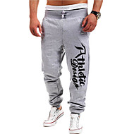Men's Active / Basic Sports Straight / Active / Sweatpants Pants - Letter Blue Light Blue Light gray L XL XXL