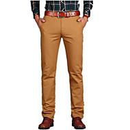 tanie -Męskie Podstawowy Codzienny Typu Chino Spodnie Solidne kolory Ćwiek Wiosna Czarny Niebieski Zieleń wojskowa 29 30 31