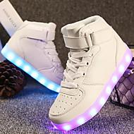 رخيصةأون -للصبيان / للفتيات LED / مريح / أحذية مضيئة جلد أحذية رياضية الأطفال الصغار (4-7 سنوات) / الأطفال الصغار (7 سنوات +) المشي دانتيل / ربطة و حلقة / LED أبيض / أسود / أحمر الربيع
