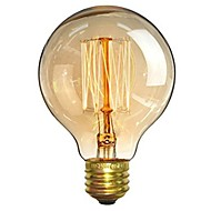 1pc 40W E26/E27 G80 Warm White 2200-2700 K Retro Dimmable Decorative Incandescent Vintage Edison Light Bulb 220-240V
