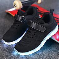 abordables -Chico / Chica LED / Confort / Zapatos con luz Punto / Red Zapatillas de Atletismo Niños pequeños (4-7ys) / Niños grandes (7 años +) Paseo Con Cordón / Cierre Autoadherente / LED Negro / Rosa / Azul