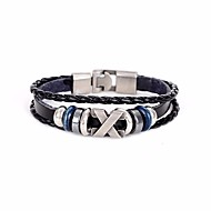 Men's Bracelet Leather Bracelet Jewelry Black For Daily Club