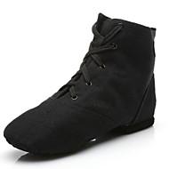 cheap -Men's Dance Shoes Canvas Jazz Shoes Splicing Flat / Sneaker Flat Heel Customizable Black / Indoor