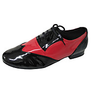 cheap -Men's Ballroom Shoes / Swing Shoes Patent Leather / Leatherette Lace-up Heel Chunky Heel Customizable Dance Shoes Black and Red / Indoor / Practice / Professional