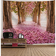 cheap -Wall Tapestry Art Decor Blanket Curtain Picnic Tablecloth Hanging Home Bedroom Living Room Dorm Decoration Landscape Curtain Blossom Fallen Flower Tree