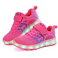 abordables -Chica LED / Confort / Zapatos con luz Punto / Tul Zapatillas de deporte Niños pequeños (4-7ys) / Niños grandes (7 años +) LED / Luminoso Negro / Rosa / Azul Oscuro Primavera / Boda
