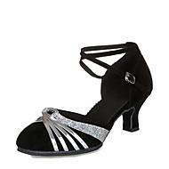 Női Modern cipők   Báli Fordított bőr Magassarkúk Személyre szabott sarok  Személyre szabható Dance Shoes Black 72cbd941b4