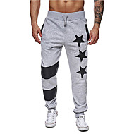 Men's Basic Sports Slim Sweatpants Pants - Geometric Summer Black Dark Gray Light gray L XL XXL