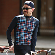 Mysenlan Men's Long Sleeve Cycling Jersey Plaid / Checkered Bike Jersey Mountain Bike MTB Road Bike Cycling Sports Polyester Taffeta Clothing Apparel / Micro-elastic / Expert / Expert