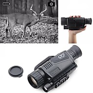 5 X 40 mm Night Vision Monocular Infrared Rechargeable Recording Image and Video Function Portable Fully Multi-coated BAK4 Hunting Climbing Military / Tactical / Bird watching