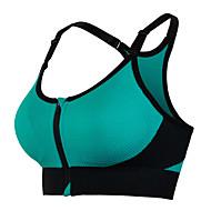 Dame SportsBH'er Sports BH Top Bralette Patchwork Spandex Zumba Yoga Fitness Åndbart Blødhed Vatteret Medium støtte Sort Lilla Lys Grøn Rosa Blå / Høj Elasticitet