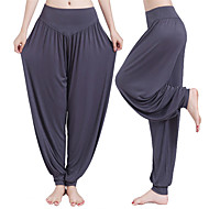 cheap -Women's Yoga Pants Harem Bloomers Moisture Wicking White Black Purple Modal Spandex Zumba Pilates Dance Plus Size Sports Activewear High Elasticity Loose / Burgundy / Royal Blue