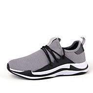 Bărbați Tul Toamnă Confortabili Adidași de Atletism Plimbare Negru / Gri