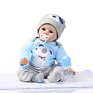 NPKCOLLECTION 24 inch NPK DOLL Reborn Doll Reborn Toddler Doll lifelike Cute Gift Child Safe Non Toxic with Clothes and Accessories for Girls' Birthday and Festival Gifts / Silicone / CE Certified