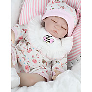 NPKCOLLECTION NPK DOLL Reborn Doll Girl Doll Baby Girl 18 inch Silicone - Newborn lifelike Eco-friendly Gift Hand Made Child Safe Kid's Girls' Toy Gift / Non Toxic