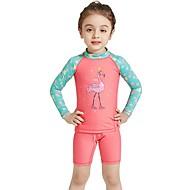 Genç Kız Streç Dalış Elbisesi Splandeks Dalış Takımı Deri Döküntüsü Koruyucu Uv güneş koruma Hızlı Kuruma UPF50+ Uzun Kollu Yüzme Şnorkelcilik Su Sporları Kırk Yama Hayvan Sonbahar Bahar Yaz