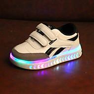 رخيصةأون -للصبيان / للفتيات LED / مريح / أحذية مضيئة PU أحذية رياضية طفل (9M-4ys) / الأطفال الصغار (4-7 سنوات) لزيق سحري / LED أبيض / أسود ربيع & الصيف / للربيع والصيف / ألوان متناوبة