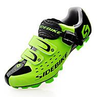 SIDEBIKE Pantofi de Mountain Bike Fibra de carbon Impermeabil Ultra Ușor (UL) Ciclism Negru Rosu Verde Bărbați Pantofi de Ciclism / Plasă de Aerisire / Cârlig Buclă