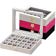 billige -24 stk tre kvinners store lagring smykker boks