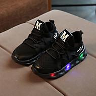 abordables -Chico / Chica LED / Confort / Zapatos con luz Malla / PU Zapatillas de deporte Con Cordón / LED / Luminoso Blanco / Negro / Rosa Primavera & Otoño / Primavera verano