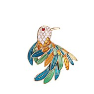 Women's Brooches Sculpture Bird Ladies Stylish Classic Brooch Jewelry Gold For Daily
