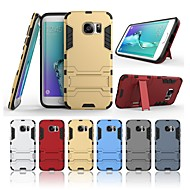 Case For Samsung Galaxy S7 edge with Stand Back Cover Solid Colored Hard PC