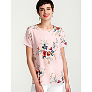 Women's Daily Blouse - Floral Print Gray / Summer