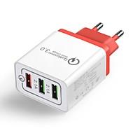 저렴한 -홈 충전기 / 휴대용 충전기 QC 3.0 홈 충전기 RoHS 규제 / EU 플러그