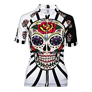 21Grams Women's Cycling Jersey Black Red / White Purple Sugar Skull Plus Size Bike Jersey Mountain Bike MTB Road Bike Cycling Breathable Moisture Wicking Quick Dry Sports 100% Polyester Clothing