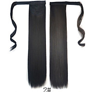 Toupee Headpiece Women / Wrap Around / Tie Up Synthetic Hair Hair Piece Hair Extension Straight 18 inch Dailywear