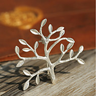 Women's Brooches Stylish life Tree Fashion British Brooch Jewelry Gold Silver For Daily Festival