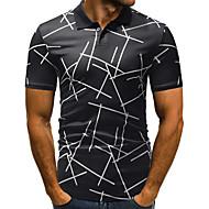 Men's Daily Basic EU / US Size Polo - Geometric Shirt Collar White / Short Sleeve