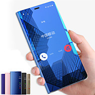 cheap -Case For Samsung Galaxy Note 9 / Note 8 / Note 5 with Stand / Mirror / Flip Full Body Cases Solid Colored Hard PC