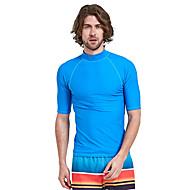 SBART Ανδρικά Προστατευτικά Προστατευτικά Μπλούζα για κολύμβηση SPF50 Προστασία από τον ήλιο UV Γρήγορο Στέγνωμα Κοντομάνικο Καταδύσεις Μονόχρωμο Άνοιξη, Φθινόπωρο, Χειμώνας, Καλοκαίρι / Ελαστικό
