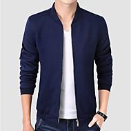 Men's Practice Regular Jacket, Solid Colored Stand Long Sleeve Polyester Black / Navy Blue / Wine