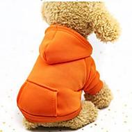 povoljno -Psi Mačke Ljubimci Puloveri Hoodies Sportska majica Jednobojni Za sport i van Szélálló Casual / sportski Odjeća za psa purpurna boja Crvena Pink Kostim Pamuk XS S M L XL XXL