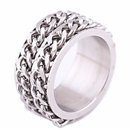 Men's Band Ring 1pc Silver Titanium Steel Steel Stainless Round Geometric Punk European Trendy Street Going out Jewelry Stylish Creative Cool