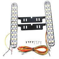 baratos -2pcs Carro Lâmpadas 10 W SMD 5050 850 lm 30 LED Luz Diurna Para