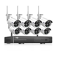 Hiseeu® 1080P Wireless CCTV System HDD 2MP 8CH Powerful NVR IP IR-CUT CCTV Camera IP Security System Surveillance Kits Day and Night Remote Viewing