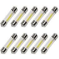 baratos -10pçs 36mm Carro Lâmpadas 1 W COB 80 lm 1 LED Lâmpada de Seta / Iluminação interior Para Universal