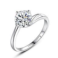 Women's Band Ring 1pc Silver Imitation Diamond Alloy Ladies Romantic Sweet Evening Party Festival Jewelry Classic Stylish