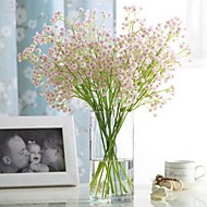 Artificial Flowers 1 Branch Classic Single Stylish Pastoral Style Hydrangeas Baby Breath Tabletop Flower