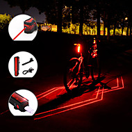 Laser LED Bike Light Rear Bike Tail Light Safety Light Mountain Bike MTB Bicycle Cycling Waterproof Portable Adjustable Lightweight 150 lm Rechargeable USB Red Camping / Hiking / Caving