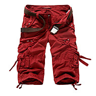 cheap -Men's Basic Military Daily Shorts Tactical Cargo Pants Solid Colored Wine Army Green Khaki 29 30 31