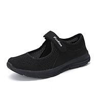 ราคาถูก -สำหรับผู้หญิง รองเท้ากีฬา ส้นแบน ปลายกลม ตารางไขว้ Sporty การออกกำลังกายและการฝึกอบรมข้าม ฤดูร้อน สีดำ / สีเทาเข้ม / ไวน์