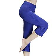 Pentru femei Sexy Pantaloni de yoga - Negru, Mov, Albastru Sport Culoare solidă Modal 3/4 Ciorapi Fitness, Sală de Fitness Îmbrăcăminte de Sport Confortabil la umezeală, Uscare rapidă, Respirabil